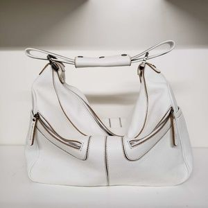 Tods Large Miky Classic Shoulder Bag - White